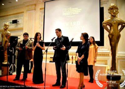 audience award Gone Back ernest meholli gone back prishtina international film festival prifest