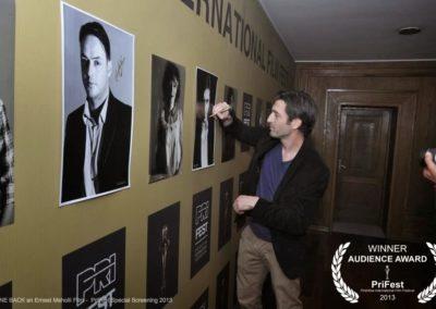Astrit Alihajdaraj GONE BACK an Ernest Meholli film Astrit Alihajdaraj PriFest Premiere in Kosovo