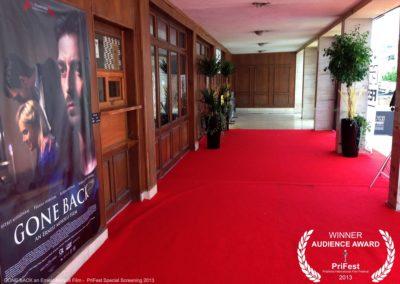 GONE BACK an Ernest Meholli film Astrit Alihajdaraj PriFest Premiere in Kosovo